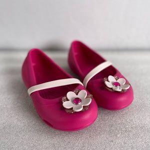 CROCS Pink Lina Charm Ballet Flats